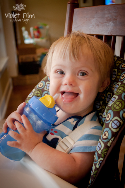 Down syndrome - baby - toddler - smiling