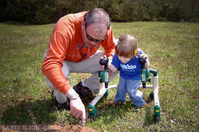Sarah Kate - gait trainer - cerebral palsy