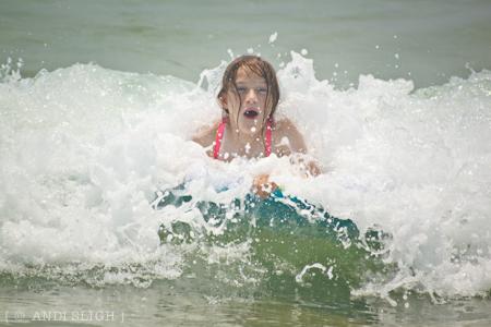 Sarah Kate, beach, water, action