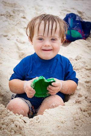 Nathan, beach